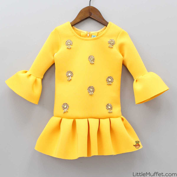 Pre Order: Embellished Sunshine Yellow Dress