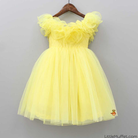 Pre Order: Yellow Off-Shoulder Dress