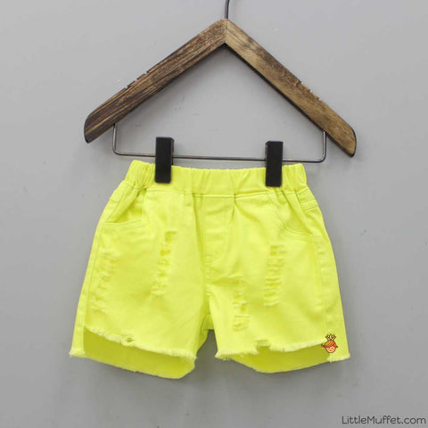 Yellow Rugged Shorts