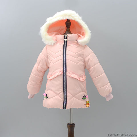 Peach Fluffy Jacket
