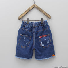 Blue Fashion Denim Shorts