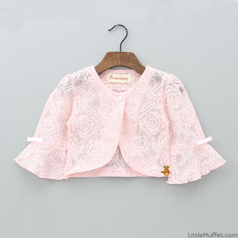 Rosy Peach shrug