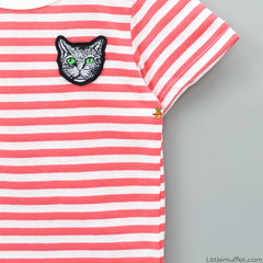 Stripy Cat -  Red