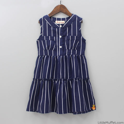 Navy Blue Stripy Love