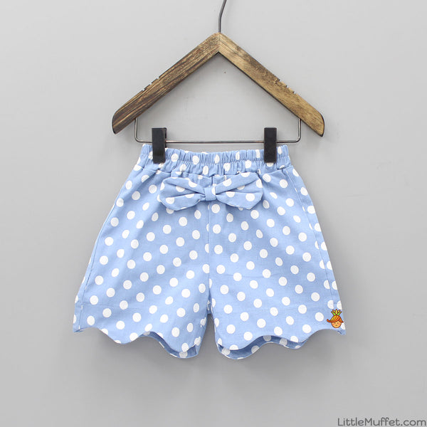 Blue Polka Shorts