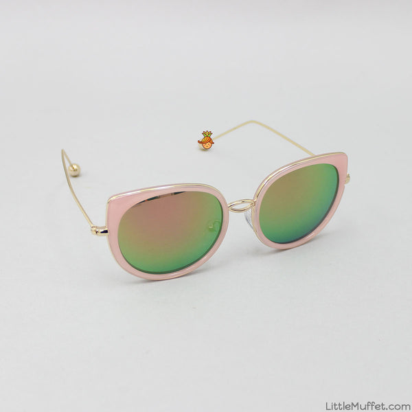 Cat Eyes Shaded Sunglasses - Pink