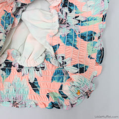 Fluttery Printed Top - Peach