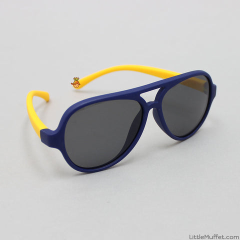 Funky Sunglasses - Navy Blue & Yellow