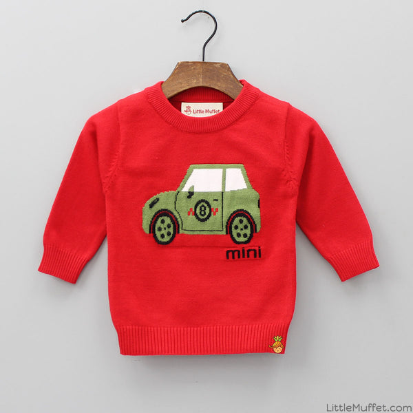 Car Ride - Red Sweater