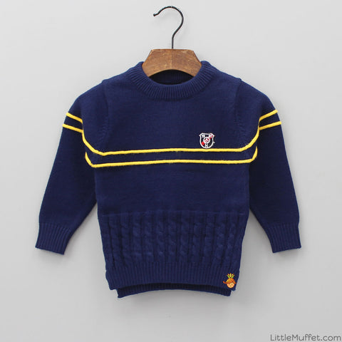 Navy Blue Soul Sweater