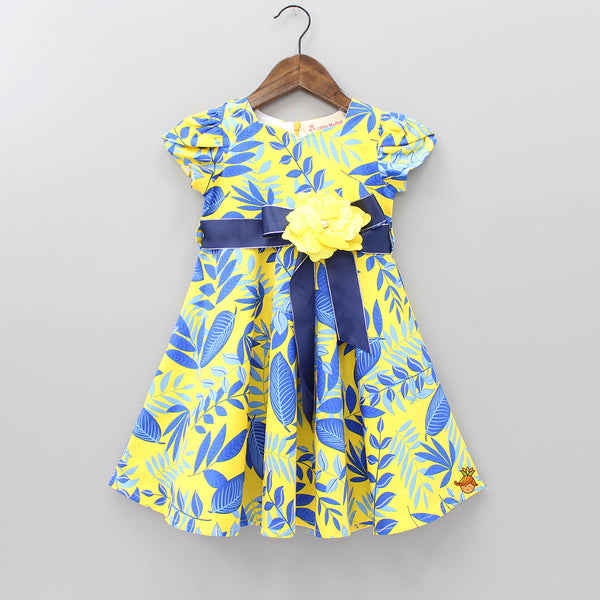 Leaflet Yellow Dress