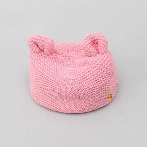 Meow New Born Cap - Pink