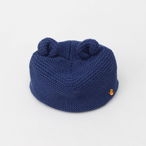 Meow New Born Cap - Navy Blue