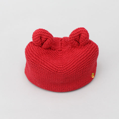 Meow New Born Cap - Red