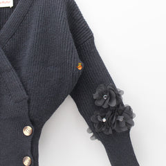 Black Floral Grace Sweater
