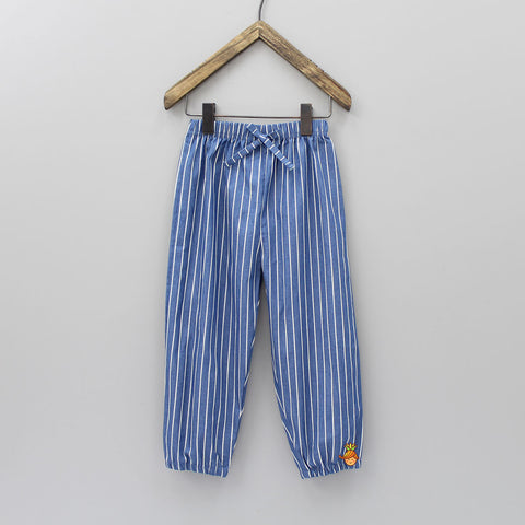 Blue Stripy Pant