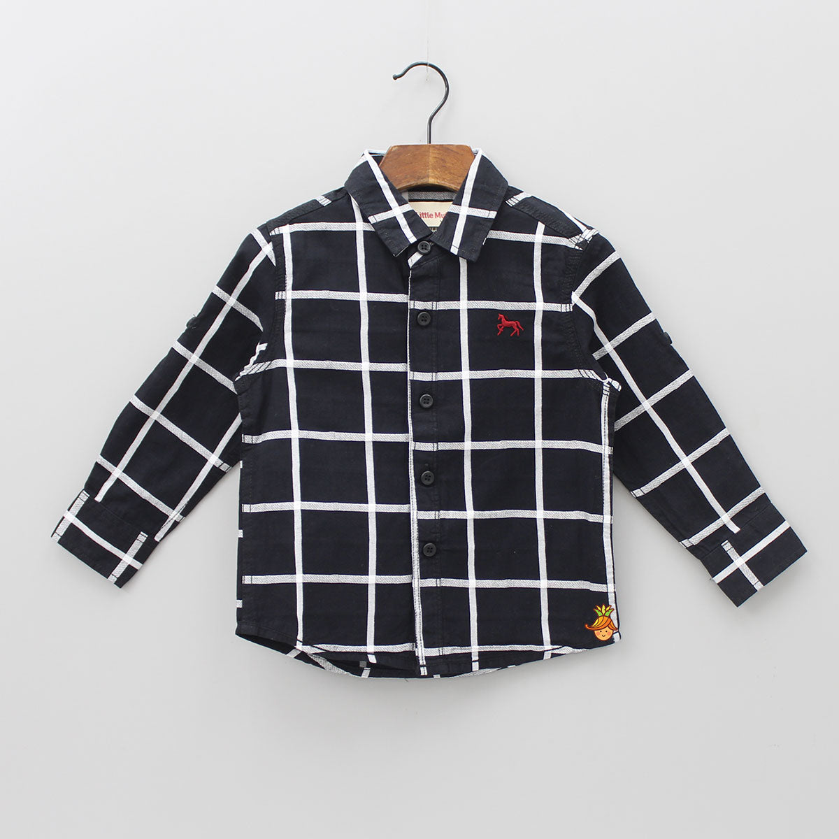 Black & Grey Checks Shirt