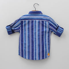 Dual Blue Striped Shirt