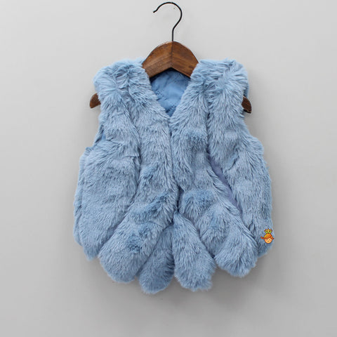 Blue Furry Jacket