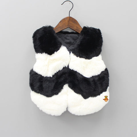 Black And White Furry Jacket