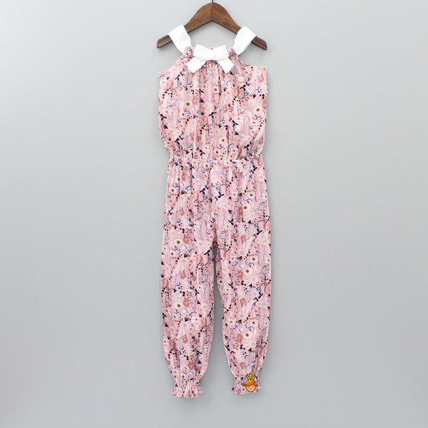 Floral Bloom Pink Jumpsuit