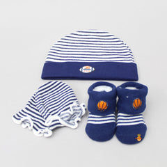 Football Love Cap, Mittens And Socks Set