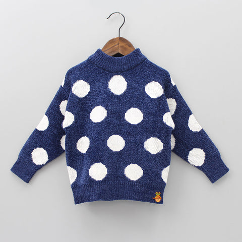 Polar Polka Navy Blue Sweater