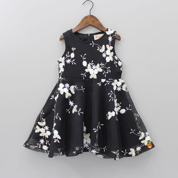 Floral Embroidered Beauty Dress