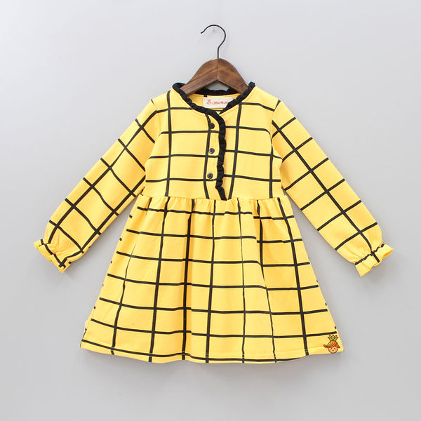 Yellow Checks Dress