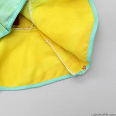 Pre Order: Yellow Top With Aqua Blue Dhoti