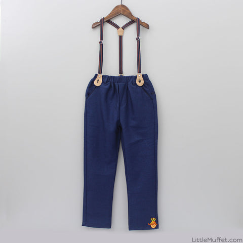 Navy Blue Pant With Suspender