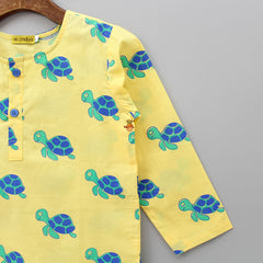Handprinted Turtle Kurta