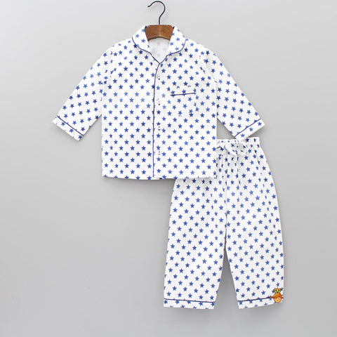 Blue Stars Sleepwear Set
