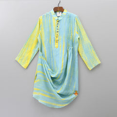 Pre Order: Two Shaded Cowl Style Kurta With Pyjama