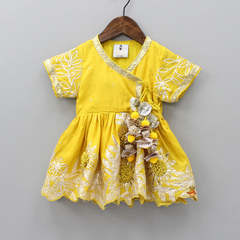 Pre Order: Yellow Angarakha Dress