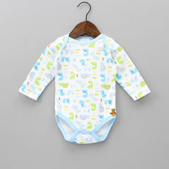 Dinosaur Blue And White Bodysuit