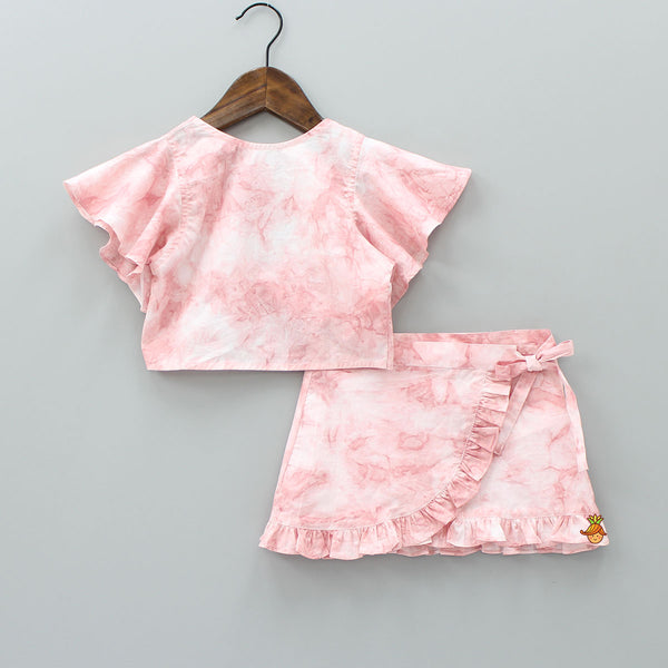 Pink Tie And Dye Set