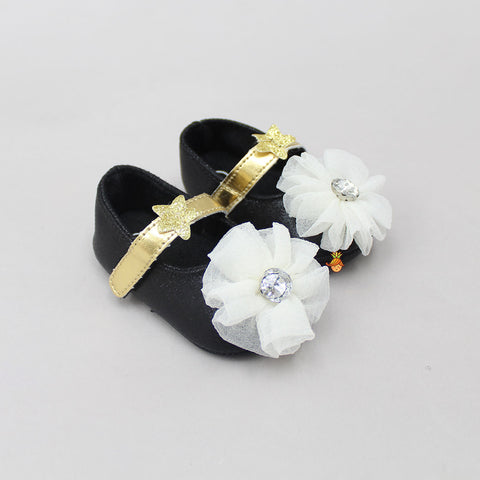 Black Flowery Booties