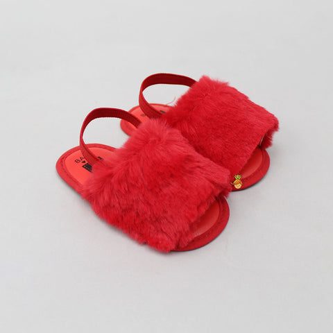 Red Furry Booties