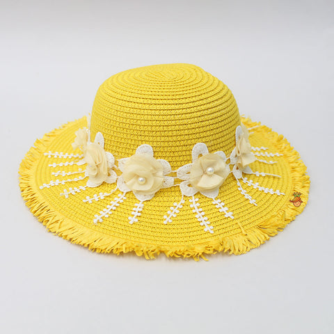 Yellow Flowery Hat