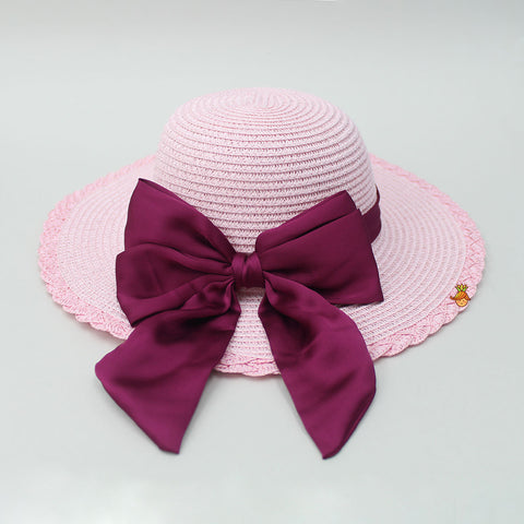 Cutwork Baby Pink Hat