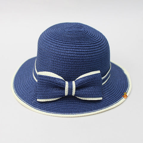 Bowy Navy Blue Hat