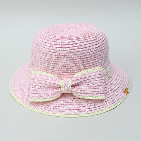 Light Pink Bowy Hat