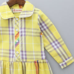 Yellow Dress With Multicolored Checks