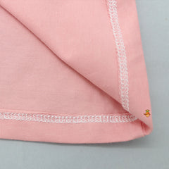 Pink T-shirt With Two Shaded Sleeves