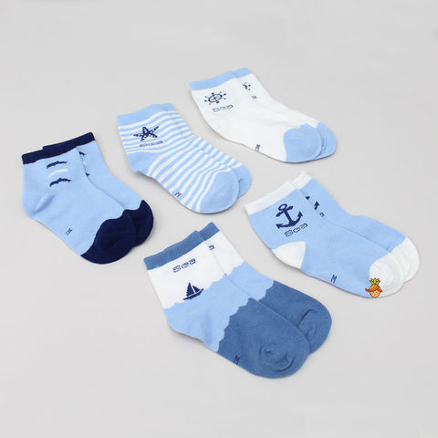 Blue Sea Socks - Set Of 5