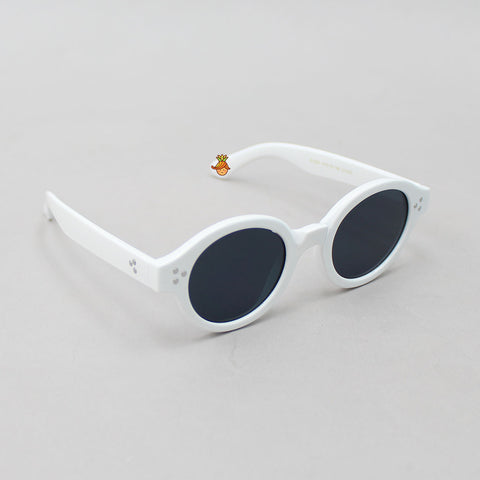 Stylish Black & White Round Sunglasses