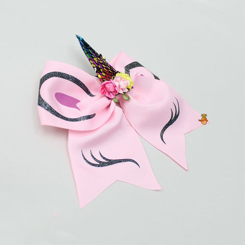 Unicorn Pink Bowy Hair Tie