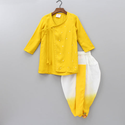 753dce7dd17 Pre Order  Yellow Kurta With Shaded Dhoti