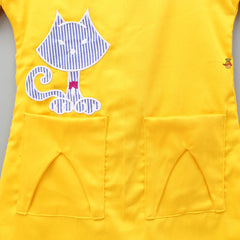 Cat Patch Yellow Dress